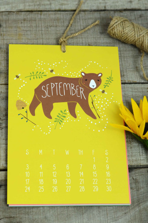 Enchanted Animals 2017 wall calendar