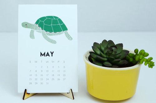 Sea Creature 2017 desk calendar
