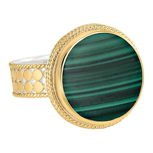 Anna Beck Round Malachite Ring