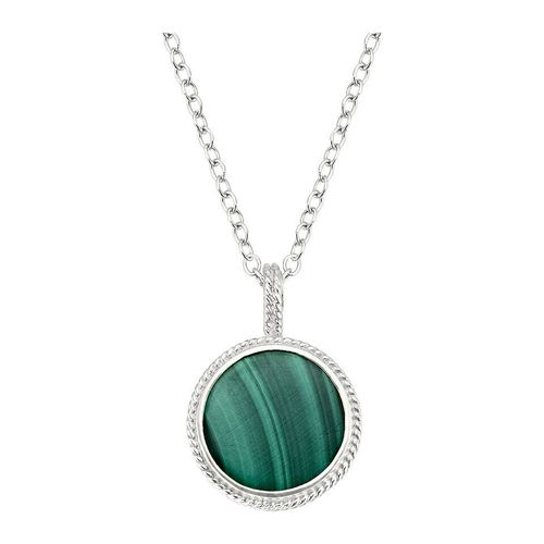 Anna Beck Malachite Reversible Necklace Silver