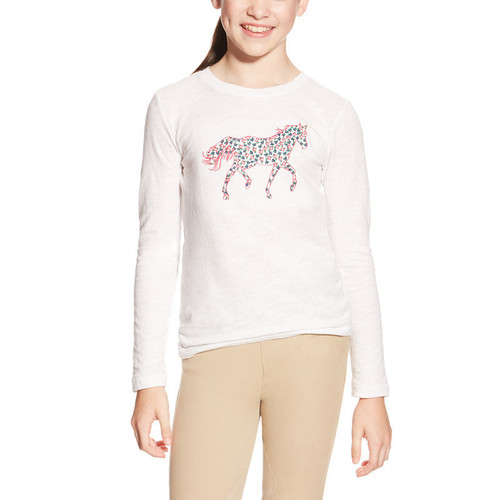 Girls Embroidered Pony Top