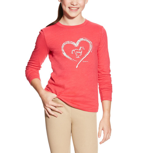 Girls Heart Foil Top
