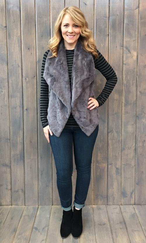Cordova Swirly Texture Charcoal Vest