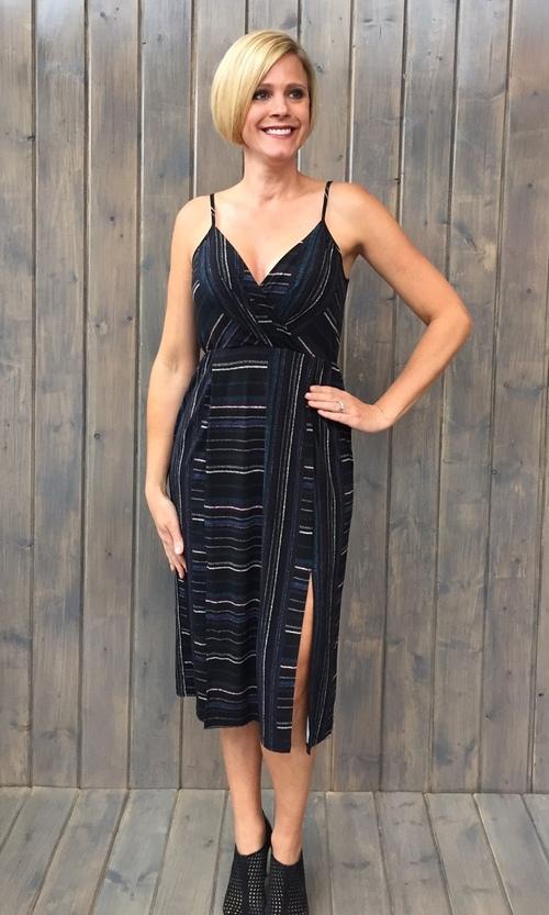 Double Slit Knit Cocktail Dress