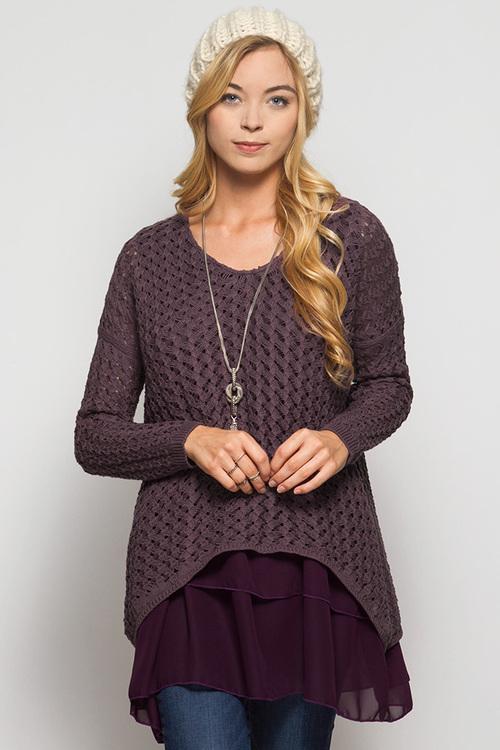Abigail layered sweater