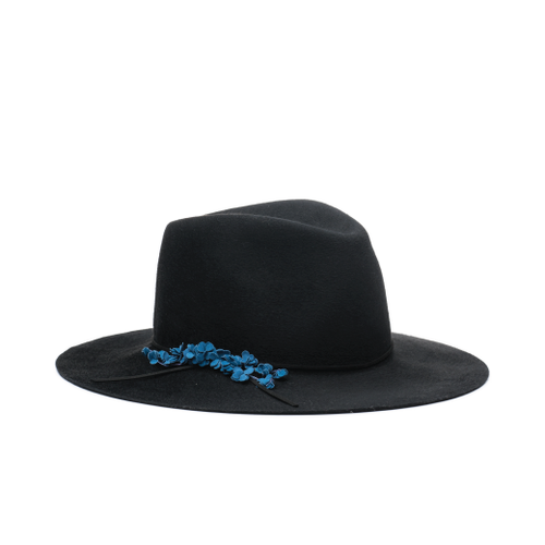 Georgina Brushed Wool Felt Wide-Brim Fedora