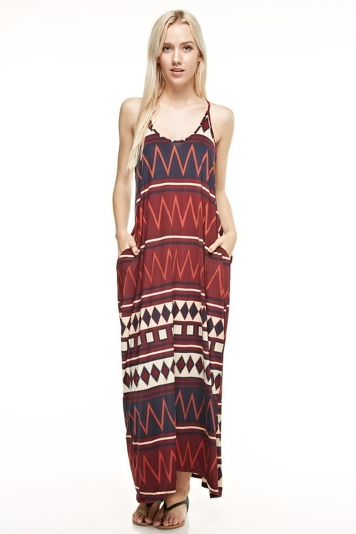 Kinsey maxi dress w/ pockets