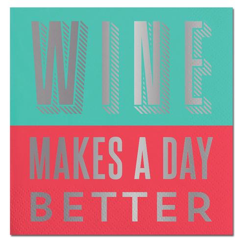 Wine Better Foil Napkin