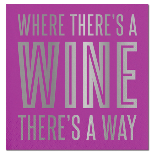 Wine a Way Foil Napkin