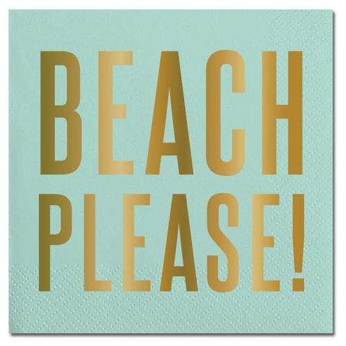 Beach Please Foil Napkin