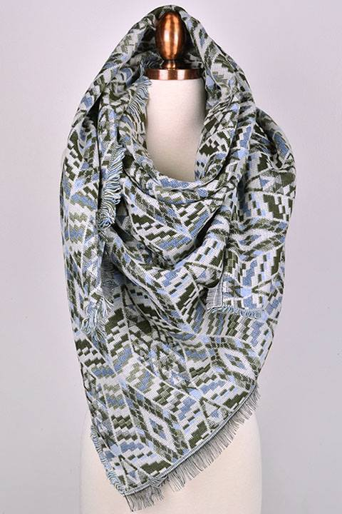 Audrey French blanket scarf