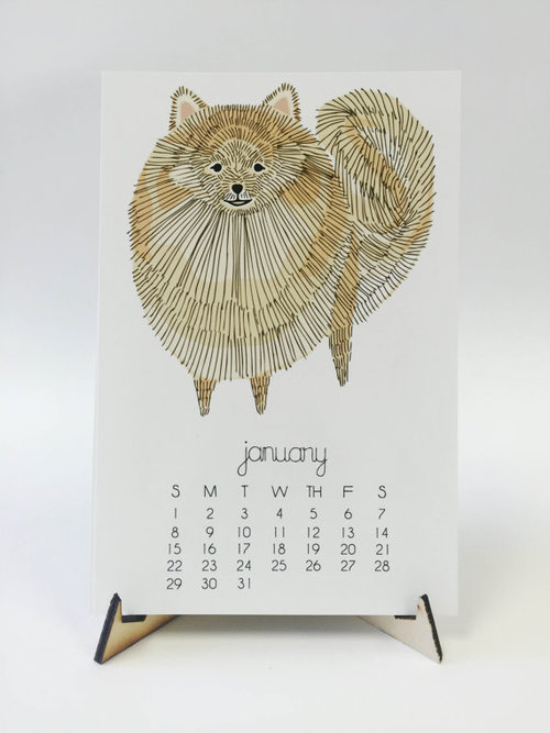 Dog 2017 desk calendar