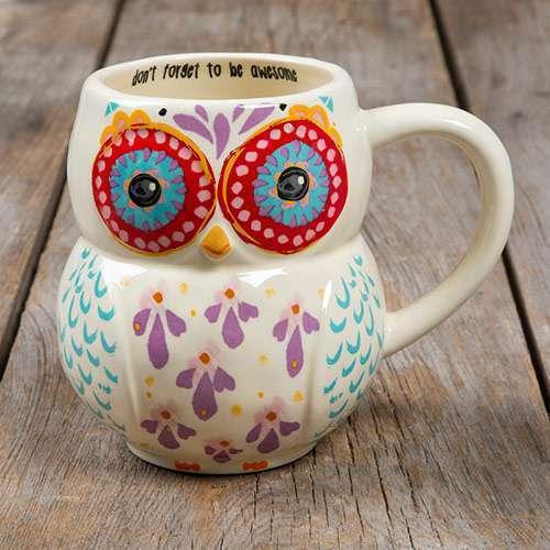 Be Awesome Folk Owl Mug