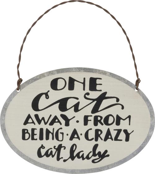 Cat Lady Tin Ornament