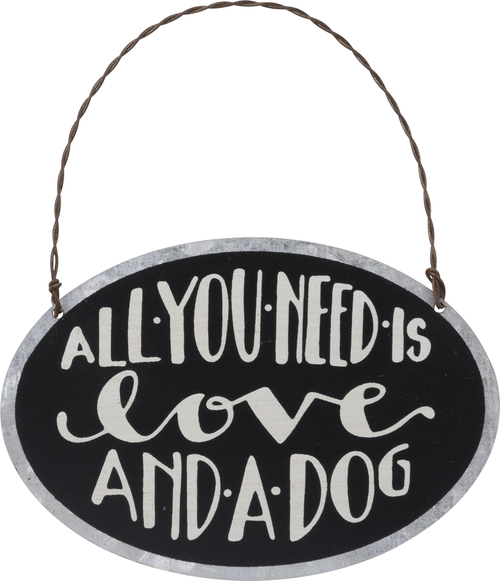 Love Dog Tin Ornament