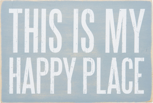 Happy Place Wooden Postcard