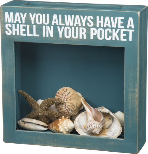 Shell in Your Pocket Cork Box Sign