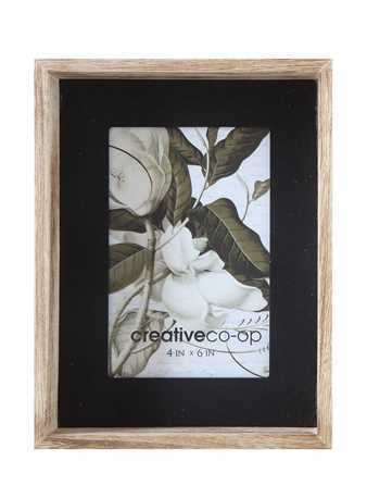 Wood & Black Frame- 4x6