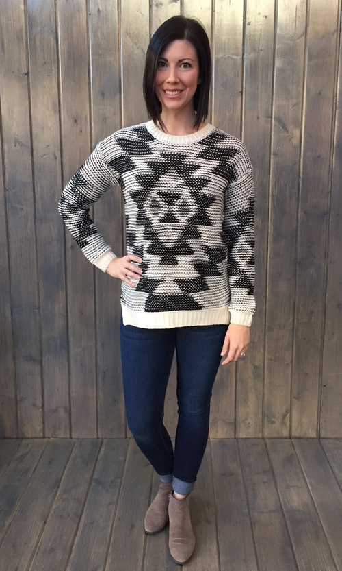 Aztec Crew Neck Sweater