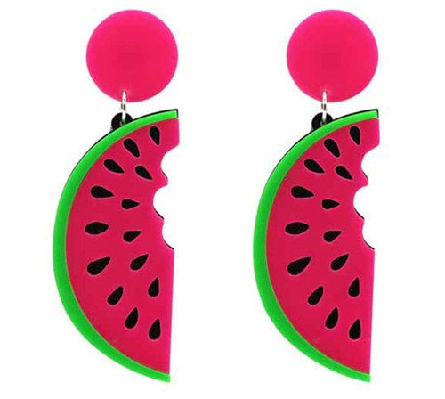 Watermelon Slice Earrings