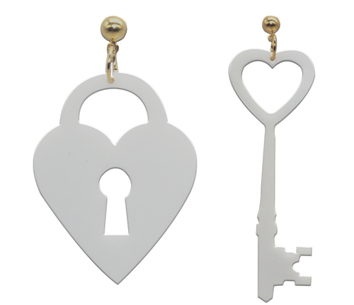 Key and lock Earrings