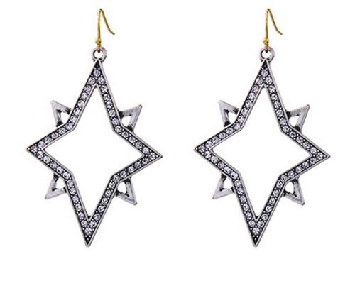 Retro Starburst Earrings