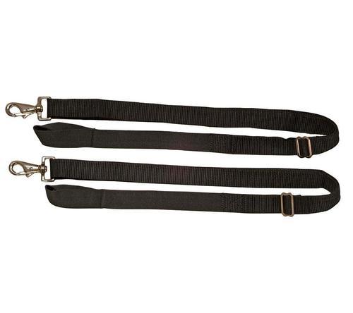 Weatherbeeta Replacement Elastic Leg Strap 1 Snap Black Pair