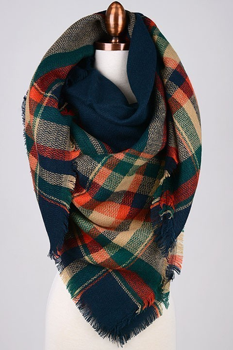 Countryside blanket scarf