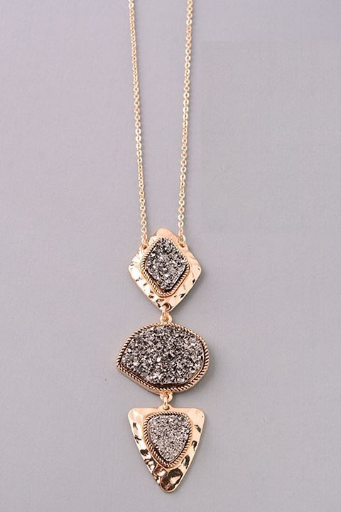 Champagne long necklace