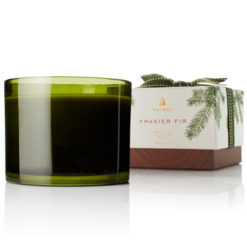 Frasier Fir Green Glass 3 Wick 17oz Candle