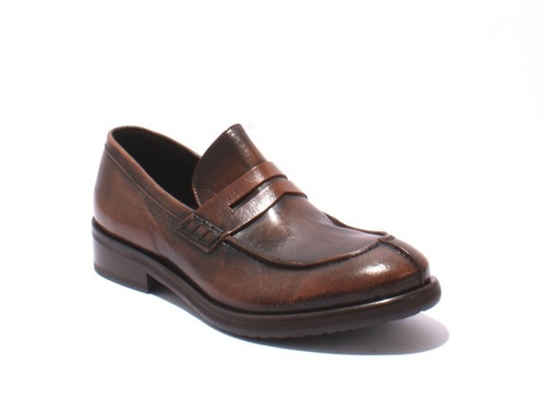 Antique Style Brown / Brushed Leather Loafers