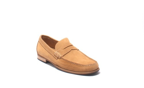 Beige Suede Driver Moccasins Loafers