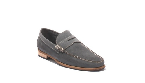 Gray Suede Driver Moccasins Loafers