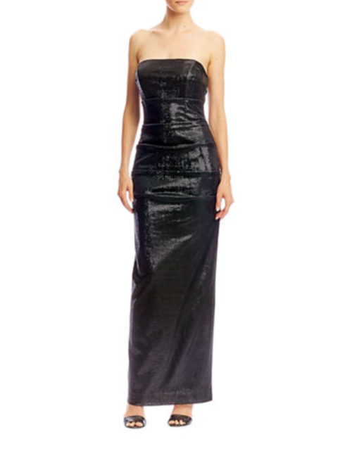 Strapless Tuck Gown
