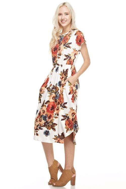 Keira floral dress w/ pockets