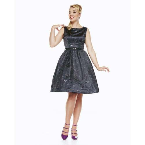 Lindy Bop Audrey Dress Space Print