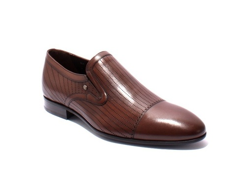 Brown Laser Cut Leather Classic Shoes