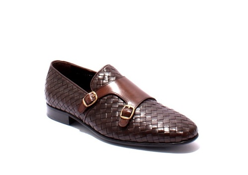 Brown Leather Classic Buckle Shoes