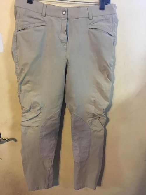 Consignment Ariat Performer Front Zip Knee Patch Breech