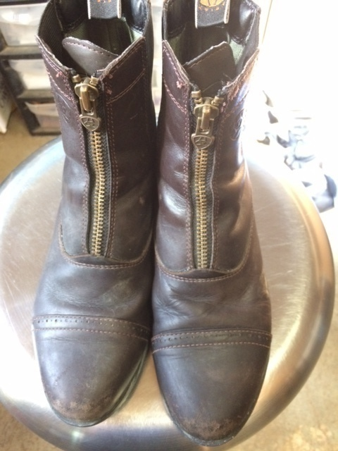 Consignment Ariat Zip Paddock Boots 7.5 Brown