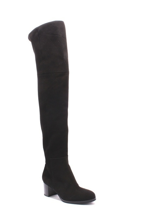 Black Suede High Over-the-Knee Heels Boots