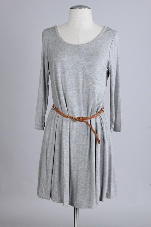 Shirt dress w/ belt