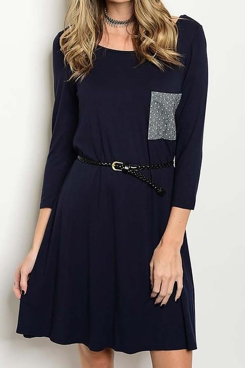 Josie dress with belt