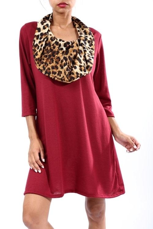 Marnie dress w/ cowl neck