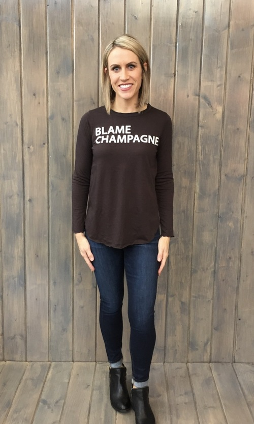 Blame Champagne Vintage Jersey Tee