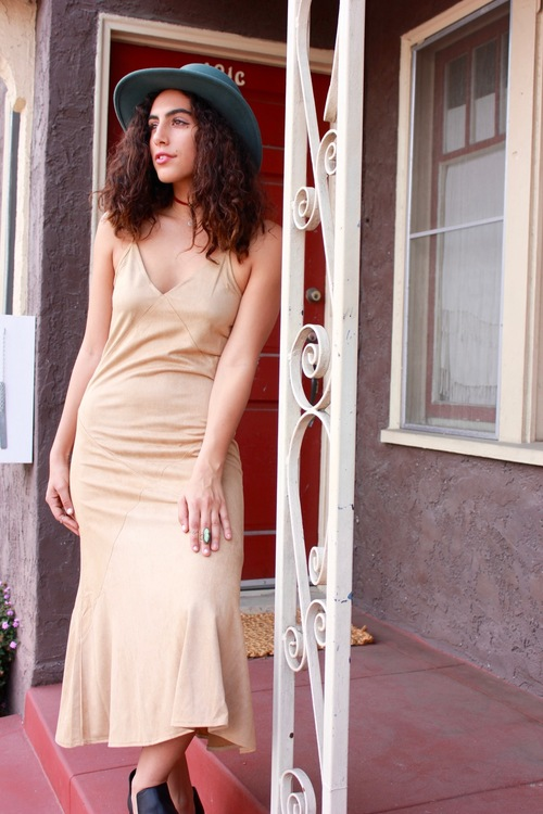 The Kendall Suede Maxi