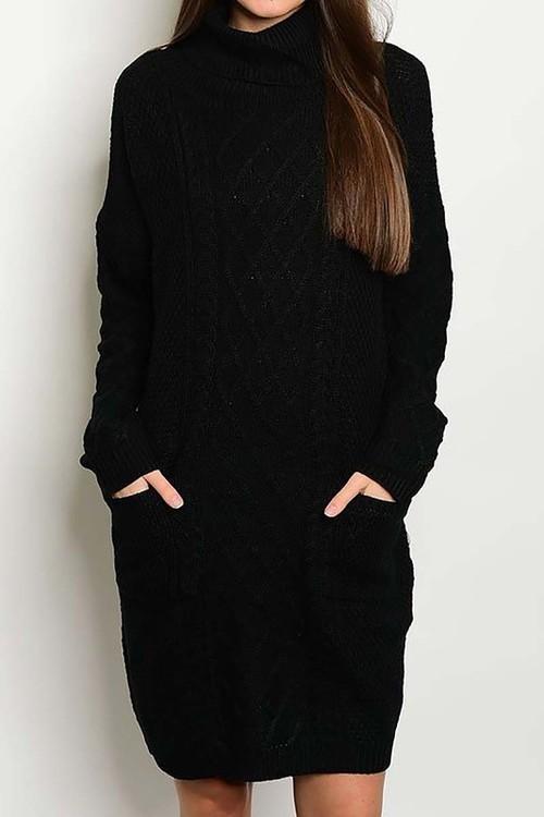 Sleigh Bells sweater dress w/ pockets