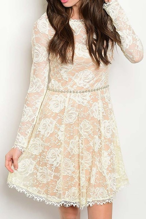 Snowfall lace cocktail dress