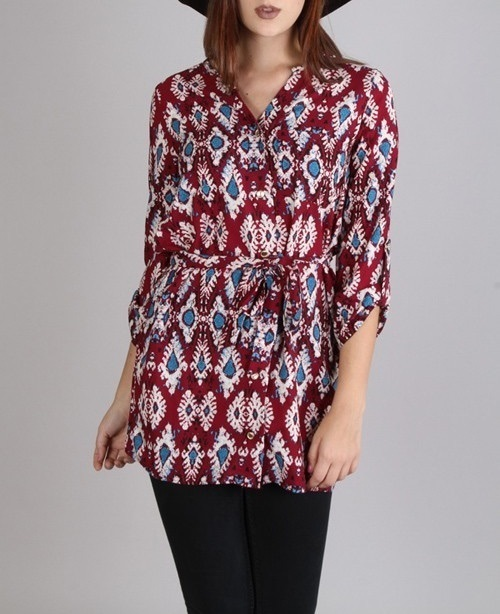 Marrakesh tunic with tie