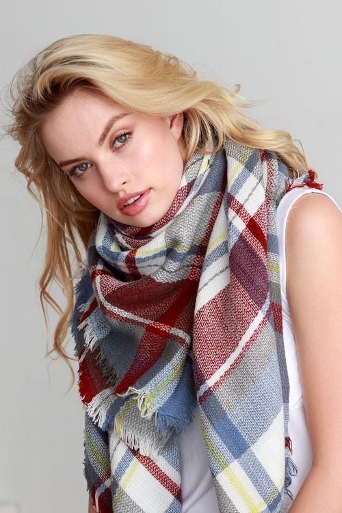 Fox hunt blanket scarf